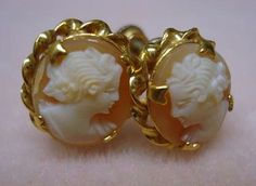 ANTIQUE PAIR CAMEO EARRINGS  200.00