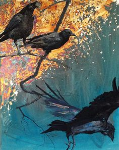 One crow sorrow, two crows mirth, three crows a wedding, four crows a birth. Five crows silver, six crows gold, seven crows a secret never to be told!