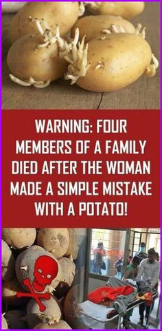 Warning: Four Members Of A Family Died After The Woman Made A Simple Mistake With A Potato! - Organic Remedies Tips Health Guru, Health And Wellbeing, Health And Nutrition, Gut Health, Holistic Remedies, Health Remedies, Natural Remedies, Healthy Tips, Healthy Recipes