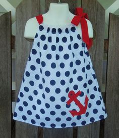 Pillowcase Dress Nautical Patriotic Red White Blue by SewSoNancy, $20.00
