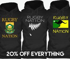 ⌛️⏱Last day to get 20% off!!! Also our Roo hoodie and S. Africa hoody are going to be off the shelves for a few months so get em while you can! http://teespring.com/stores/rugbynation?pr=20off