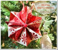 Easy Wrapping Paper Ornaments