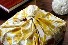 use a fun or favorite material as a gorgeous and reusable gift wrap!