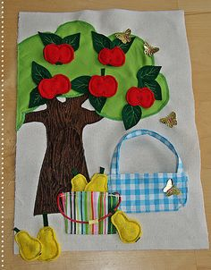 apple tree and pears quiet book page