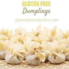 Sin Gluten, Gluten Free Diet, Foods With Gluten, Gluten Free Cooking, Gluten Free Chinese Food, Gluten Free Dumplings, Gluten Free Dumpling Wrappers, Gf Recipes, Dairy Free Recipes