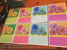 The Patterned Paper Place: Wavy Blooms Notecards