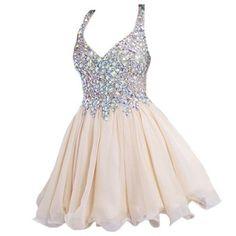 Trendy unique short prom dresses with straps