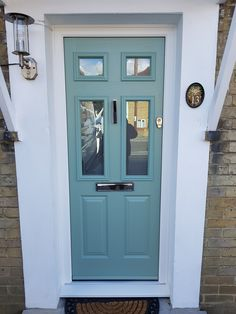 Green Colors, Front Door, Color Options, Hues, Green, Traditional Style Homes, Homeowner, Home Decor, Color