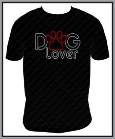 Rhinestone Dog Lover Shirt with Paw by BeyondtheBlingUSA on Etsy, $25.00