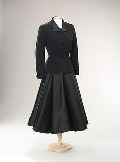 Evening Suit; Mainbocher, 1947