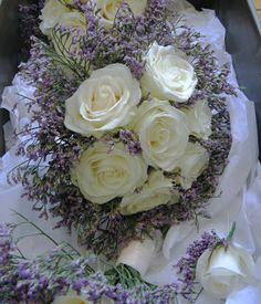 limonium cuff bouquet