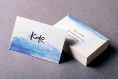 Watercolor Business card  Hand Lettered Business by MeiPriskila