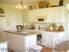 Kitchen, Painting Kitchen Cabinets White Distressed Kitchen 4: The Idea Of Kitchen Cabinet In White Distressed