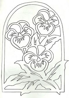 """New Free of Charge Pansies outline Style Pansies include the bright colored bouquets with """"faces."""" Some sort of cool-weather popular, pansies are Stencils, Paper Cutting Patterns, Pewter Art, Parchment Craft, Scroll Saw Patterns, Stained Glass Patterns, Stencil Designs, Spring Crafts, Pansies"""