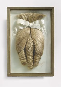 "Emma, relique, circa 1900 © Collection Jean-Jacques Lebel Exhibition ""The Art of Hair"" at Musee du Quai Branly, curated by Yves Le Fur"