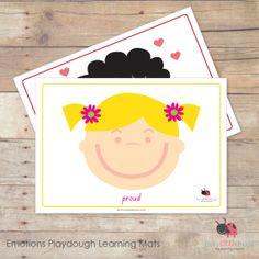 Emotions Playdough Learning Mats 3