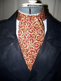 Cravat, Ascot Mens Victorian Tie. (Holidays Special For $12.95)