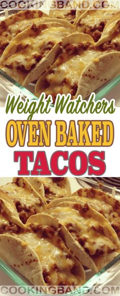Oven Baked Tacos Skinny Recipes, Ww Recipes, Mexican Food Recipes, Chicken Recipes, Cooking Recipes, Healthy Recipes, Keto Chicken, Dinner Recipes, Weight Watcher Dinners