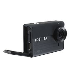 This looks pretty awesome, and has full HD!  TOSHIBA Camileo X-Sports action camcorder