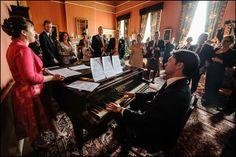 Singing in the drawing room - Wedderburn Castle