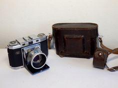 Rare Vtg. rangefinder camera ZEISS IKON CONTINA II Novar lens PRONTOR-SV + miscs #ZeissIkon