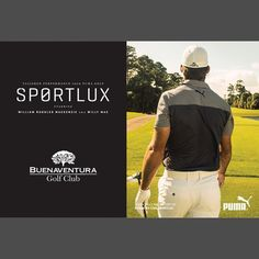 """@buenaventuragc's photo: """"This higher end luxury collection from PUMA focuses on top of the line fabrics and a fine attention to detail along with a clean, fashionable appearance. The collection will be representing by Will Mackenzie and Jesper Parnevik on tour and will be very limited and will include shoes, shirts, shorts, pants, jackets, and hats available NOW only here at Buenaventura Golf Club. --- Esta nueva colección de lujo de PUMA enfocada en la alta calidad de la línea de tejidos y…"""