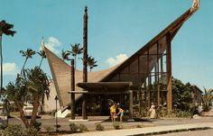 1958 pics Waikikian / Tahitian Lanai -- Tiki Central   Another Hyperbolic Paraboloid Roof