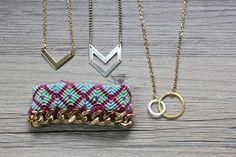 DIY: layered necklaces  bracelets