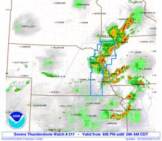 SPC Severe Thunderstorm Watch 211 - http://blog.clairepeetz.com/spc-severe-thunderstorm-watch-211/