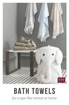 Make laundry day fun for the whole family with this affordable Home Decorators Collection Animal Laundry Hamper in White. Elephant Hat, Elephant Nursery, Linen Cabinets, Laundry Hamper, Bedroom Flooring, Turkish Towels, Muted Colors, Home Hacks, Beautiful Bathrooms