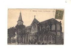 CPA  - BOHAIN (02) - L EGLISE - VUE D ENSEMBLE - 1918
