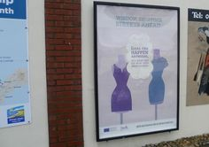 Shopping centre car park advert in location