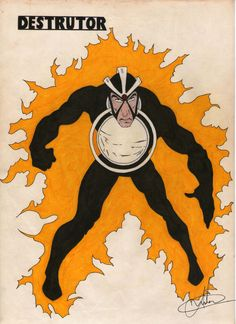 """Alexander """"Alex"""" Summers junior, irmão de Ciclope, não sabia que era um mutante até o dia de sua formatura, quando ele foi raptado por um professor egípcio que também era mutante e se chamava Faraó Vivo, que drenou a energia de Alex. Com o poder de Alex ele se transformou no Monólito Vivo (posteriormente derrotado pelos X-Men e Vingadores). Muito amarelo, muito preto e taquim de lápis na cara, tá pronto! Uniforme antigão aqui."""