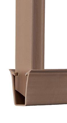 Beige Ridged Slats™ for Chain Link Fence Fence Slats, Vinyl Privacy Fence, Privacy Landscaping, Small Backyard Landscaping, Backyard Gates, Bali Garden, Small Balcony Design, Chain Link Fence, Fence Design