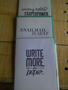 Grey Moggie Press Letterpress cards promotes #writemoreonpaper