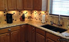 Santa Cecilia Granite Travertine Backsplash Kitchen Products Ideas