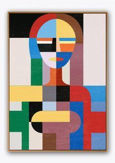 Automata Contemporary, Acrylic, Canvas, Art by Pictoclub Geometric Shapes Art, Abstract Geometric Art, Cubism Art, Modern Art Paintings, Shape Art, Art Lessons, Pop Art, Art Drawings, Canvas Art