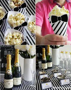 Bird's Party Blog: Oscars Viewing Party: DIY Popcorn Bar + FREE Party Printables