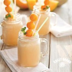 Cantaloupe Smoothie (1 cup water 1/4 cup fresh lemon juice 1 cup cubed ripe…