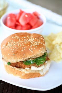 Asian Salmon Burger with Sweet/Sour Miso/Ginger Dressing by thecurvycarrot #Salmon_Burger #thecurvycarrot