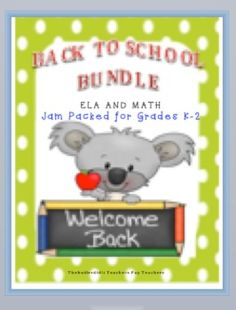 BACK TO SCHOOL BUNDLE-ELA AND MATH --               JAM PACKED FOR GRADES K-2This bundle is filled with 23 ready to use language arts and math activities. These activities will help to jump start the year in a very exciting way!  Your students will enjoy completing these engaging activities!