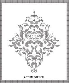 Large Wall  Damask STENCIL Pattern FAUX by innovativestencils, $12.75