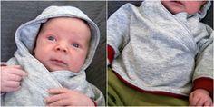 Baby Hoodie zum selber naehen mit kostenlosen Schnittmuster DIY
