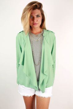 Mykonos Sunshine Blazer in Mint