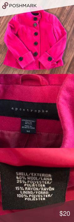 Cute pink pea coat Super cute wool coat 🧥  Size small Worn a few times Apostrophe Jackets & Coats Pea Coats