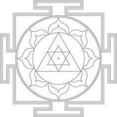 This is the dancing form of Ganesha and the meditation etc, visualize Ganesha in a rather jovial, compromising mood. Ucchista Ganesha is worshiped to remove domestic disharmony and the relationship… Ganesha, Ganesh Yantra, Yantra Tattoo, Mandala Art, Indian Mandala, Mandala Drawing, Tibetan Mandala, Mystic Symbols, Spiritual Symbols