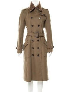 Burberry Wool Shearling-Trimmed Coat