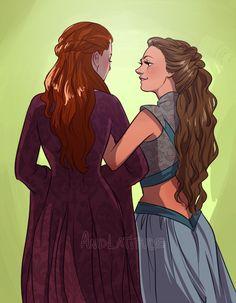 Sansa Stark & Margaery Tyrell by andlatitude