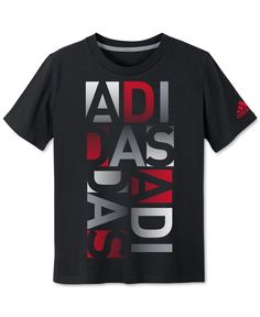 adidas Boys' Block Letters Graphic-Print T-Shirt