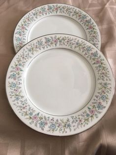 A personal favorite from my Etsy shop https://www.etsy.com/listing/518721971/noritake-dinner-plates-contemporary
